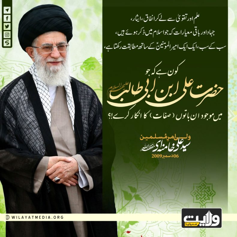 کون ہے جو امام علیؑ میں موجود صفات کا انکار کرے؟