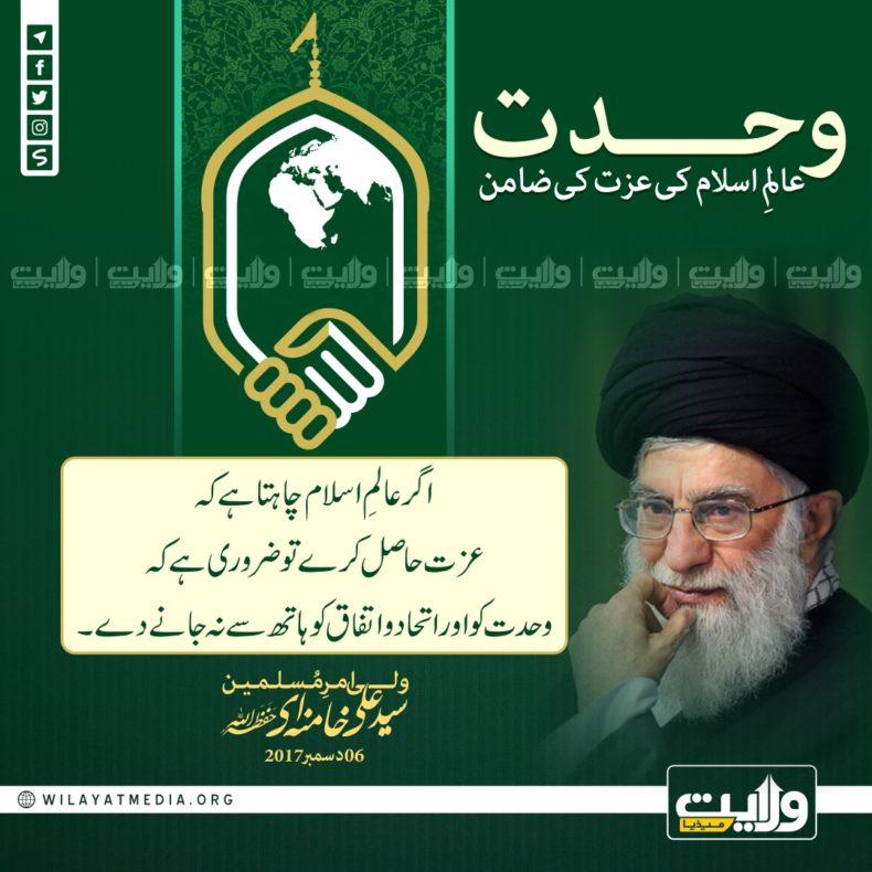 ? وحدت؛ عالمِ اسلام کی عزت کی ضامن