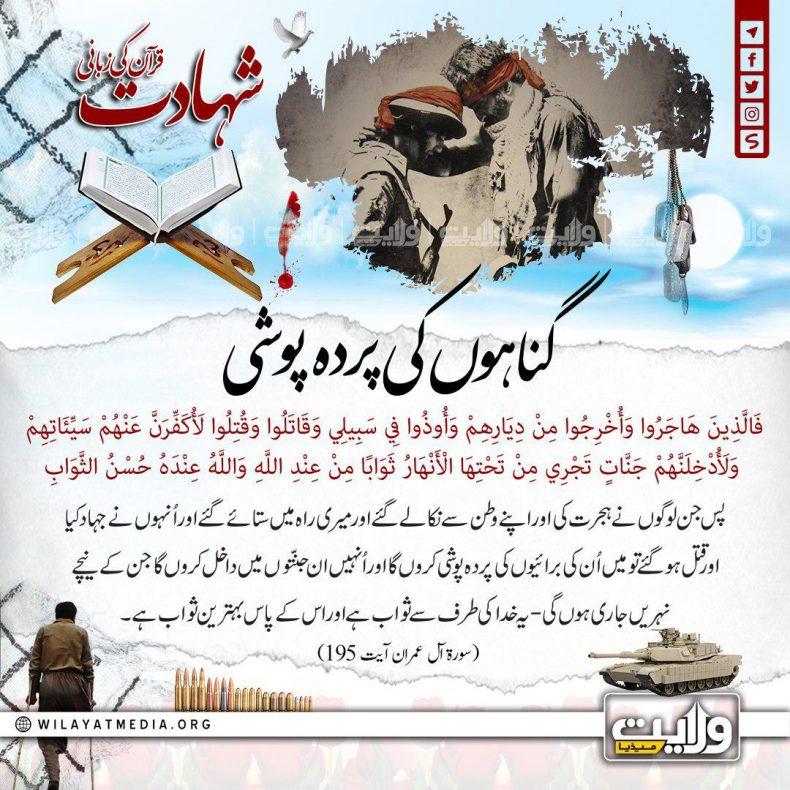 گناہوں کی پردہ پوشی   شہادت قرآن کی زبانی