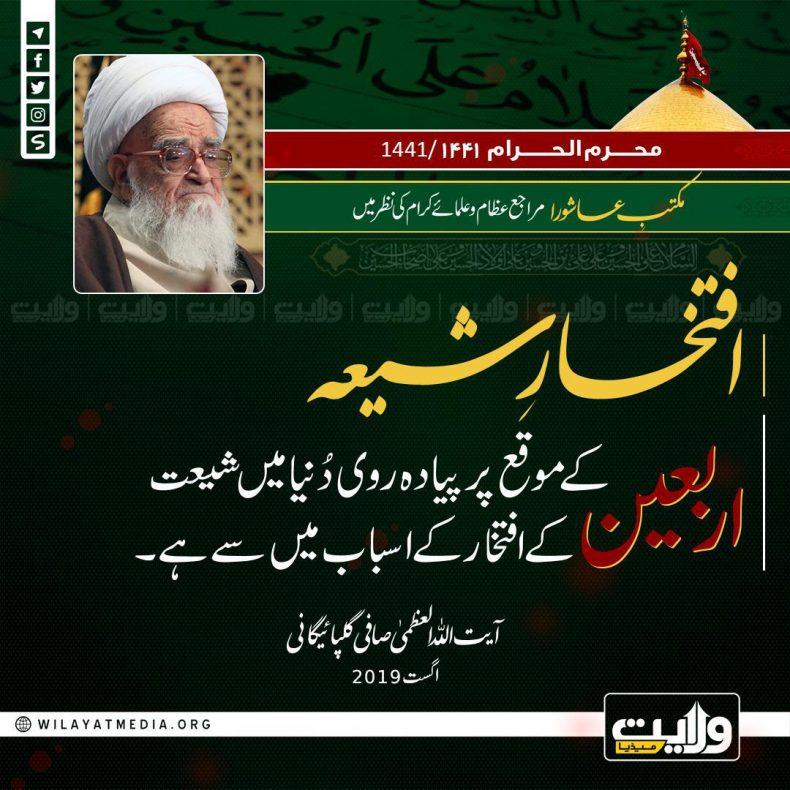 مکتبِ عاشورا مراجع عظام اور علمائے کرام کی نظر میں | افتخارِ شیعہ