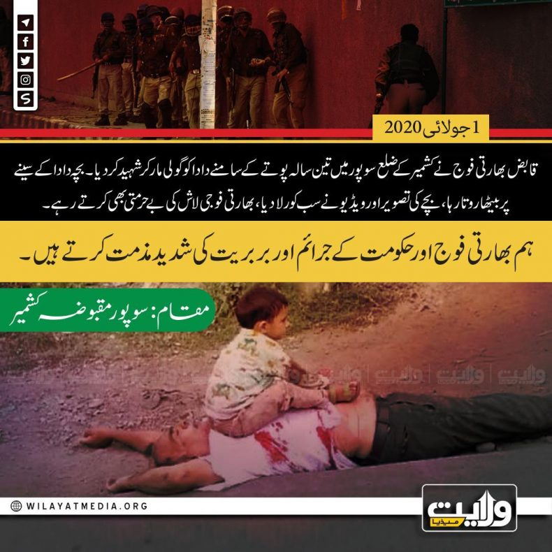 مقبوضہ کشمیر میں بهارتی جارحیت کی بھرپور مذمت