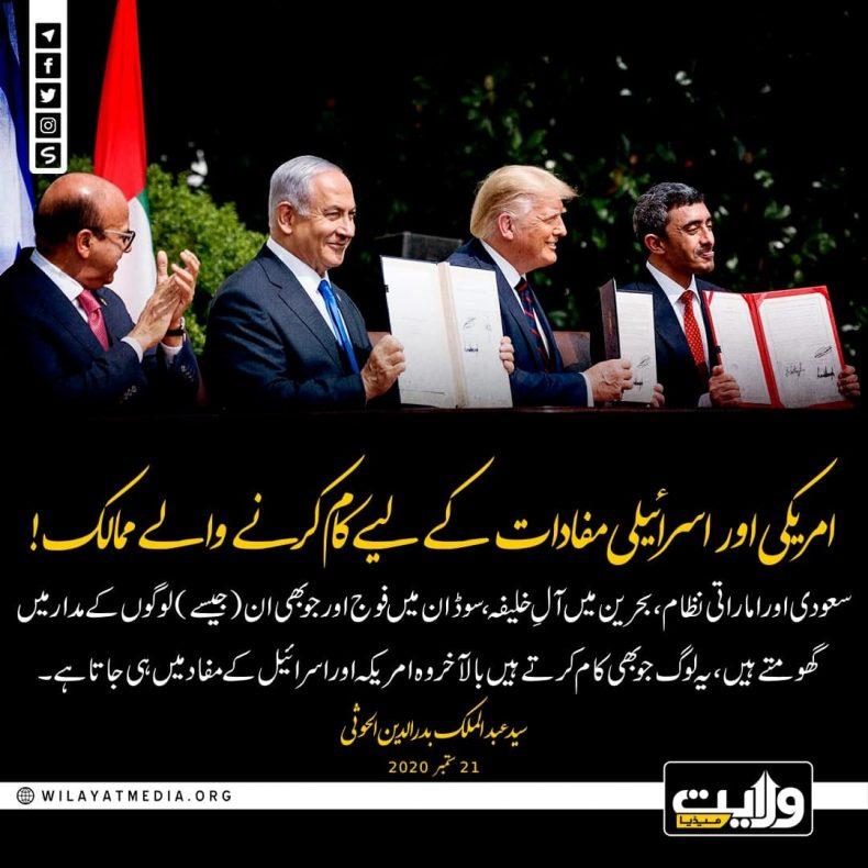 امریکی اور اسرائیلی مفادات کے لیے کام کرنے والے ممالک!